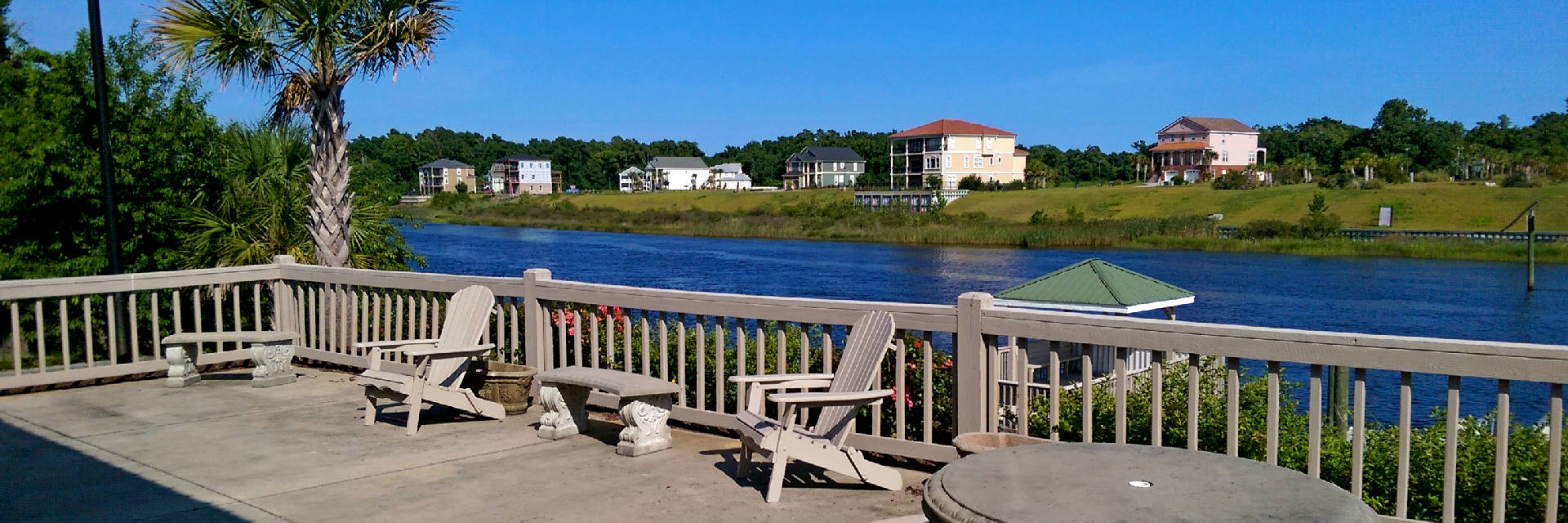 View of The Waterway Pelican Bay in North Myrtle Beach SC