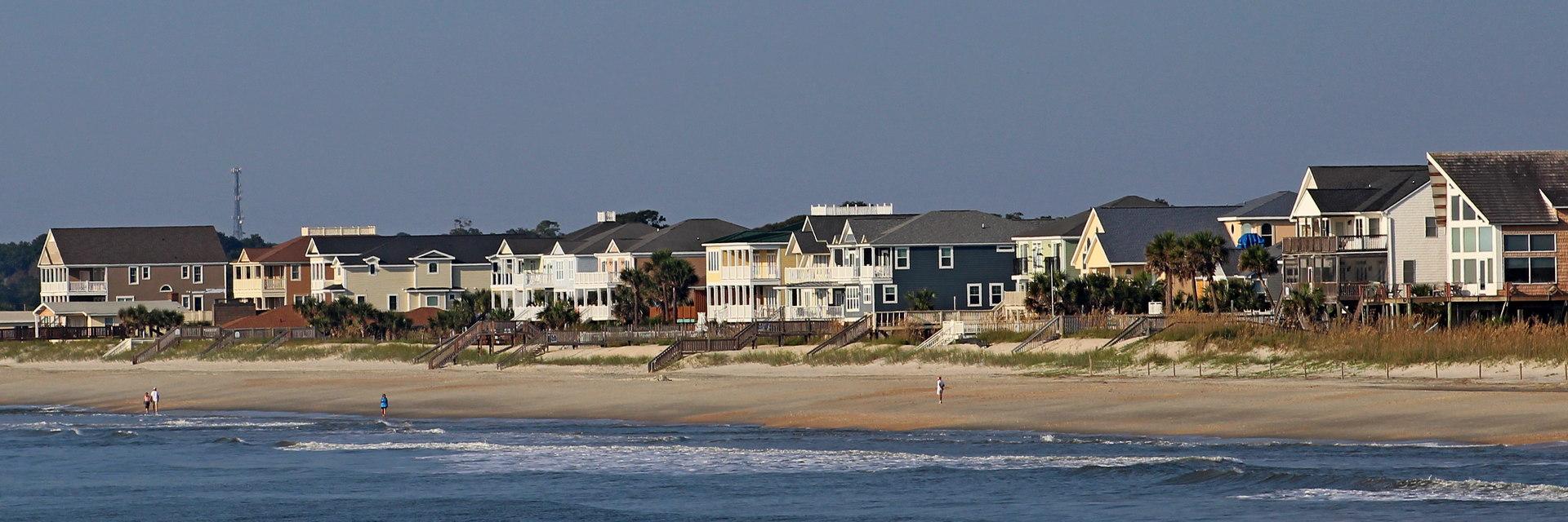 Ocean Front Homes in the Long Bay neighborhood near Myrtle Beach SC