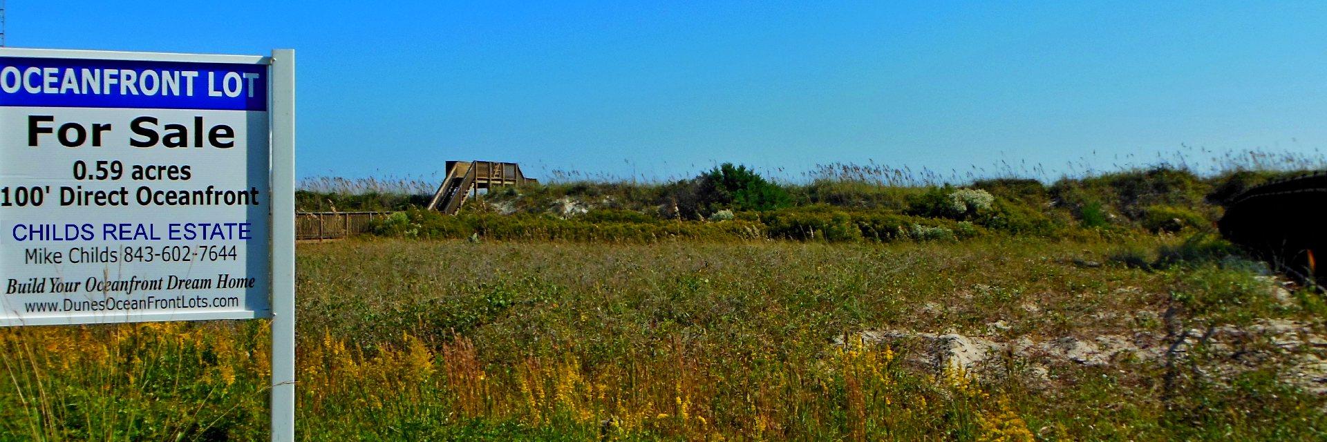 Myrtle Beach Ocean Front Lot For Sale in Dunes Club - Dunes Oceanfront