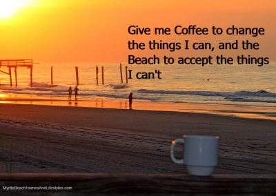 Beach Life Words of Wisdom coffee beach