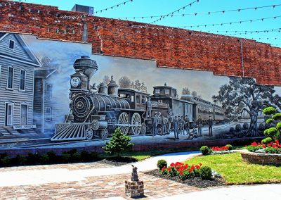 Kingston Park & Train Mural Conway SC 006