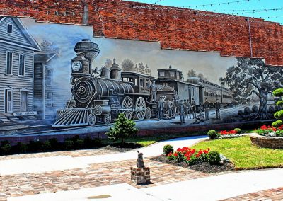 Kingston Park & Train Mural Conway SC 007