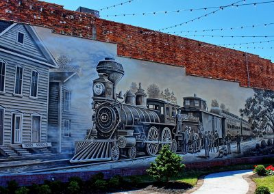 Kingston Park & Train Mural Conway SC 009