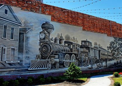 Kingston Park & Train Mural Conway SC 012