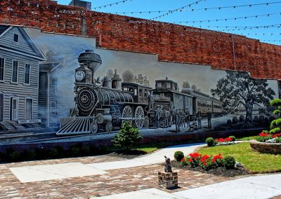 Kingston Park & Train Mural Conway SC 019